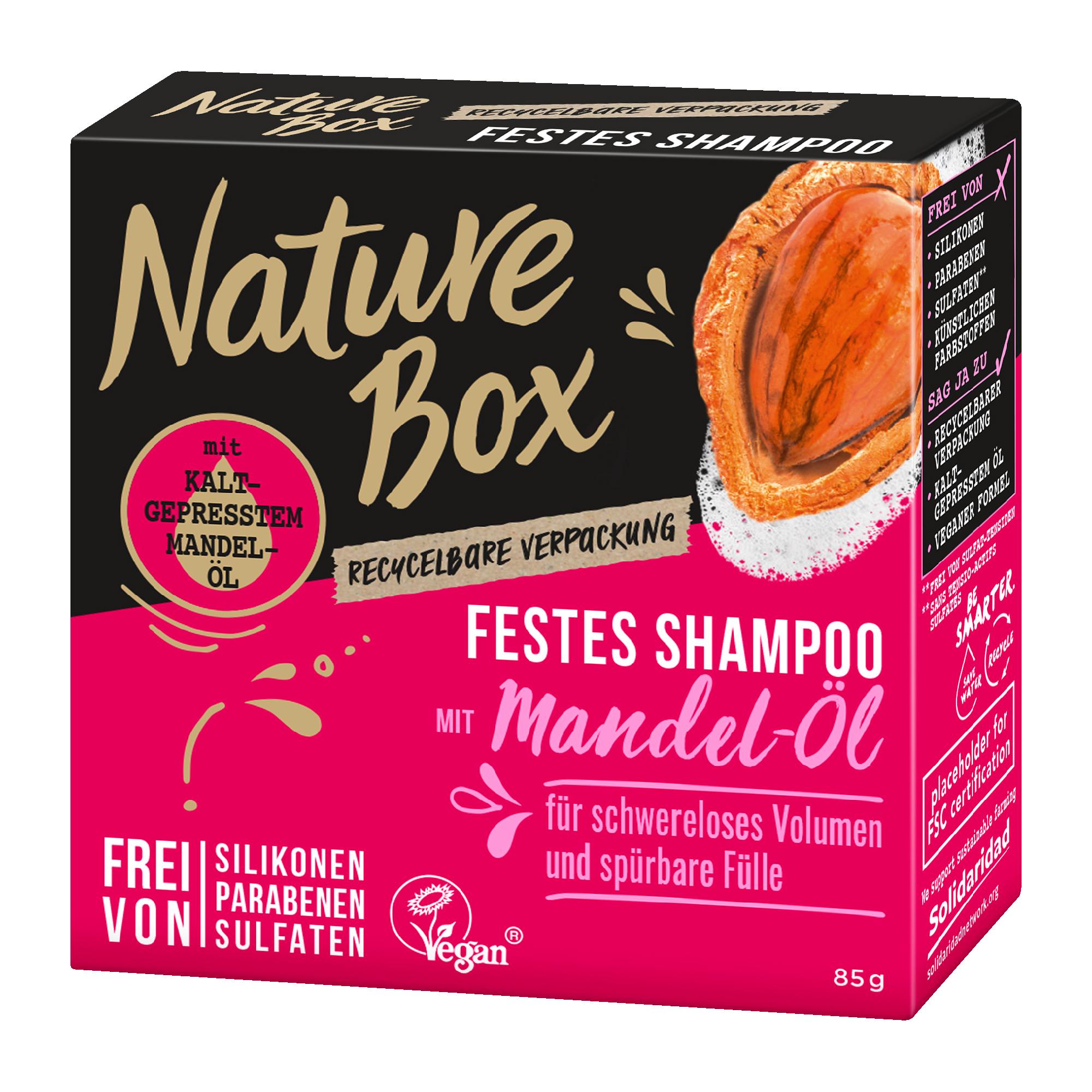 Nature Box Festes Shampoo Mandel