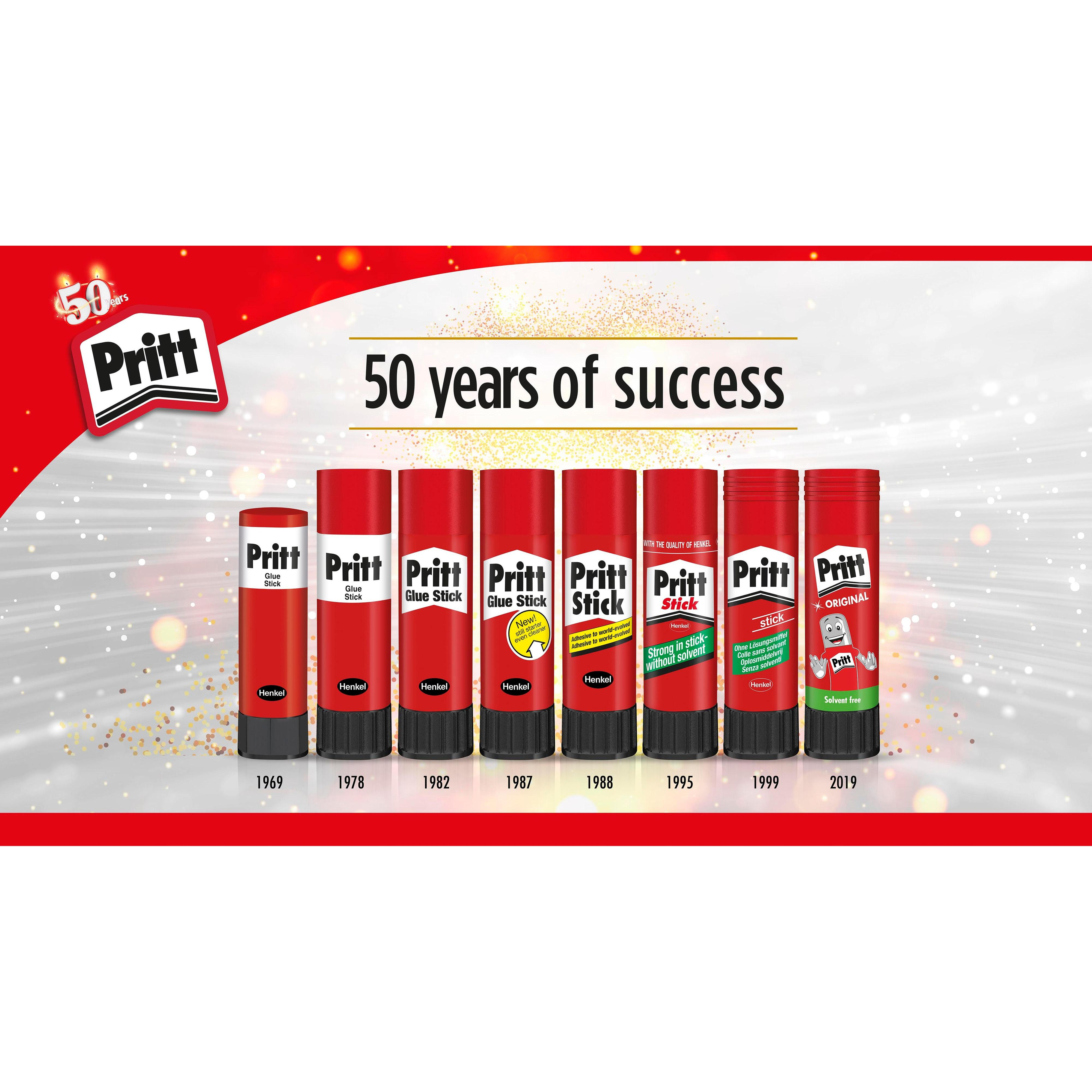 50 years of brand success – Henkel has continuously improved the quality and formulation of its glue sticks.