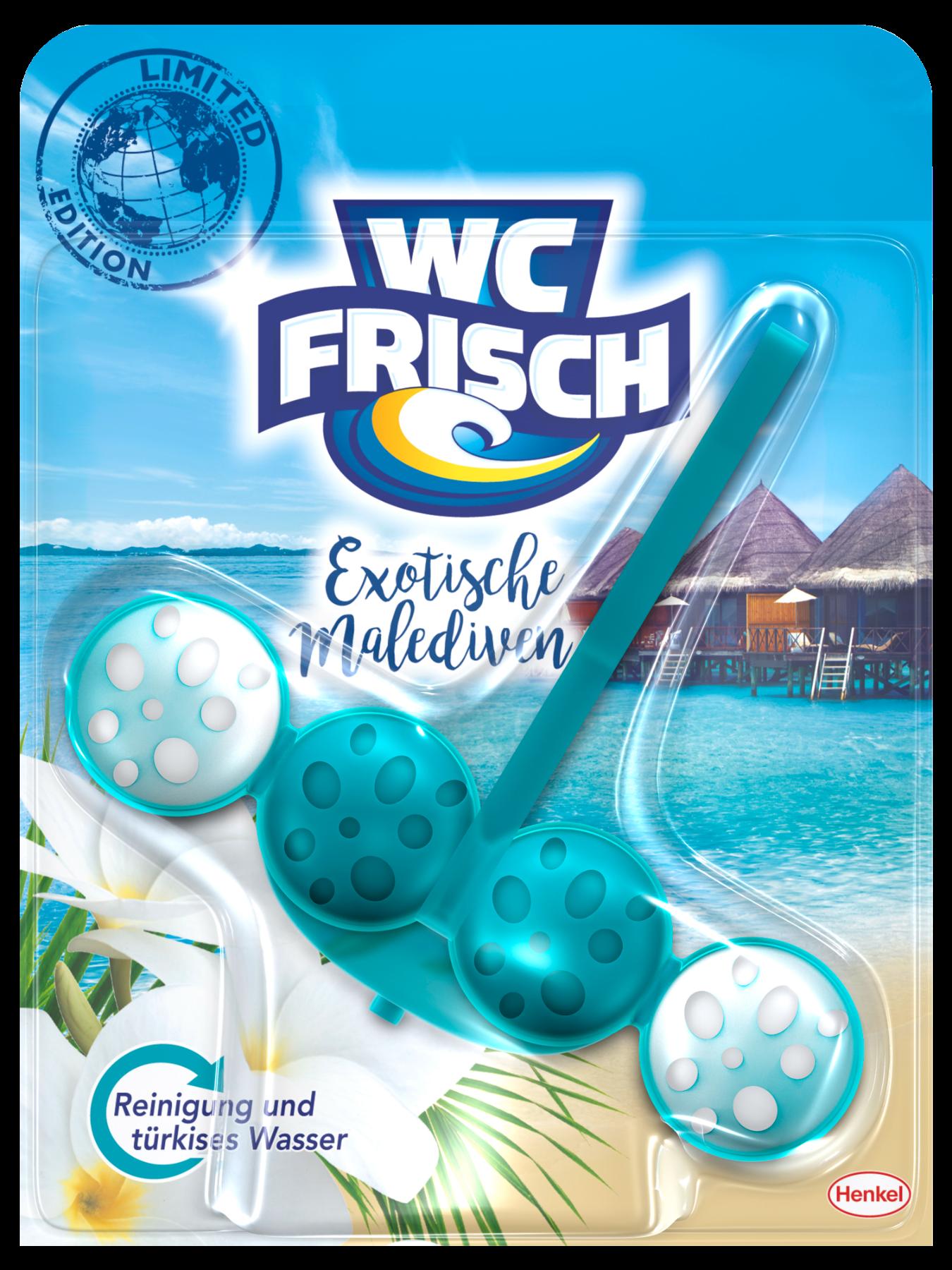 Die neue WC Frisch Limited Edition mit der Version Exotische Malediven