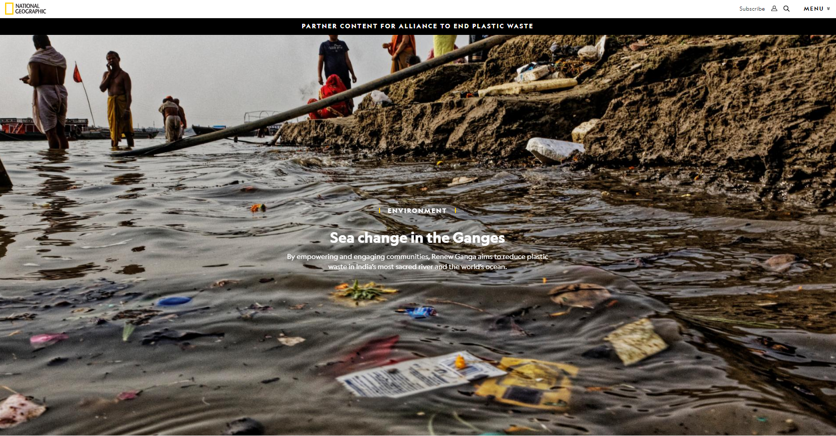 National Geographic Sea change in the Ganges