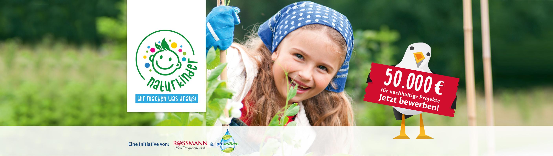 """Mit der Initiative """"Naturkinder"""" fördern Pro Nature und Rossmann ausgewählte Projekte mit 50.000 Euro"""