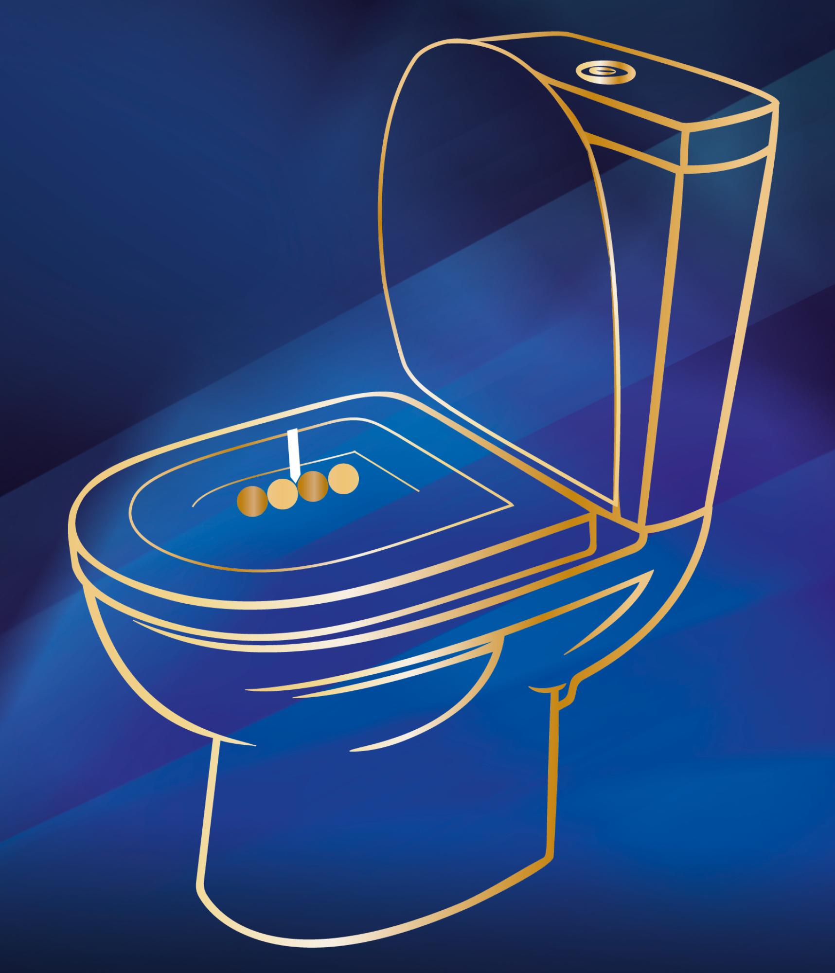 Grafik Toilette