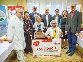 A látogatott gyerekkórházak számának bővítésére a Henkel és a SPAR Magyarország támogatásával és vásárlóinak segítségével volt lehetőség, akik összesen 3,5 millió forintot gyűjtöttek össze