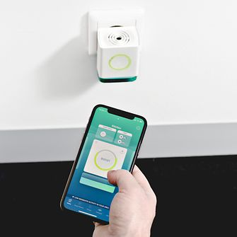 The anti-mosquito-diffuser HomeControl is steered via an app.