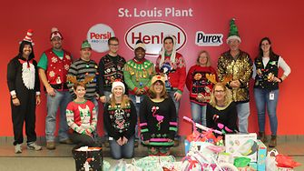 St. Louis, MO employees donated winter clothing items to make winter warmer for those in need