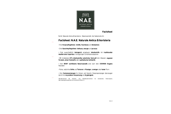 Factsheet N.A.E. Naturale Antica Erboristeria
