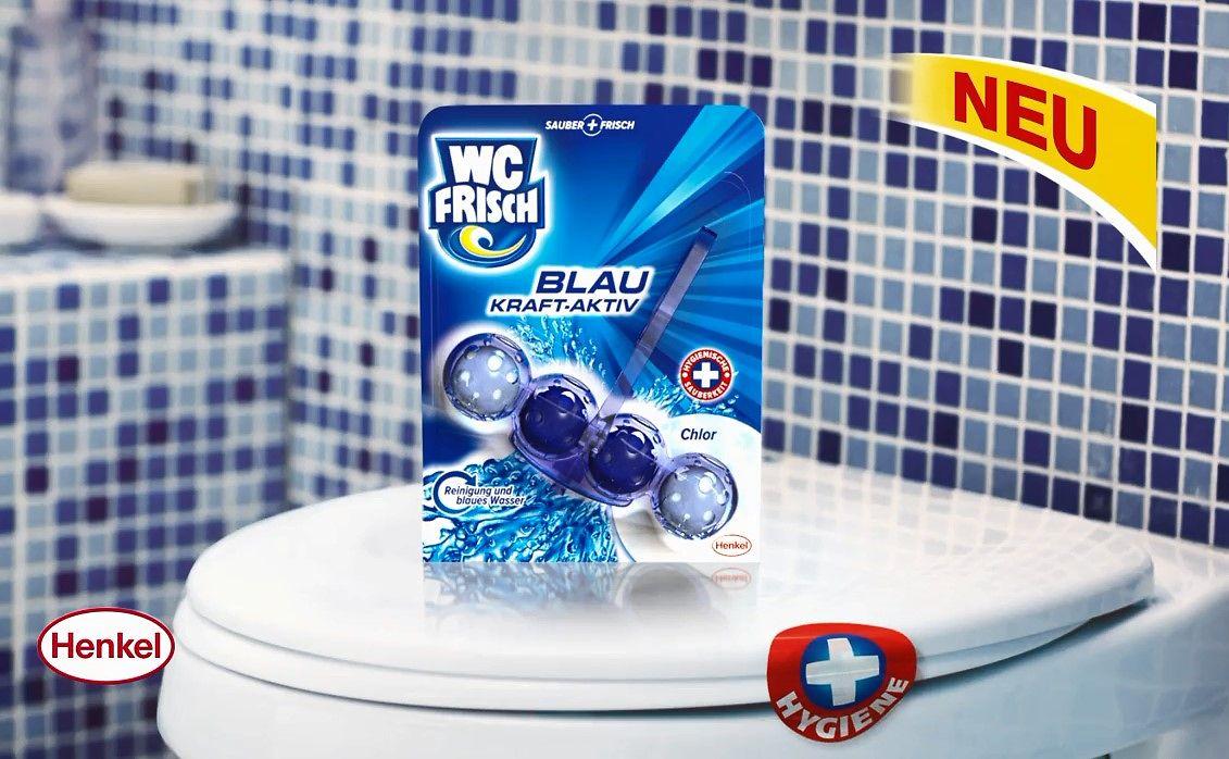 Am Montag, 12. Mai, startet ein neuer TV-Spot für WC Frisch Blau Kraft-Aktiv