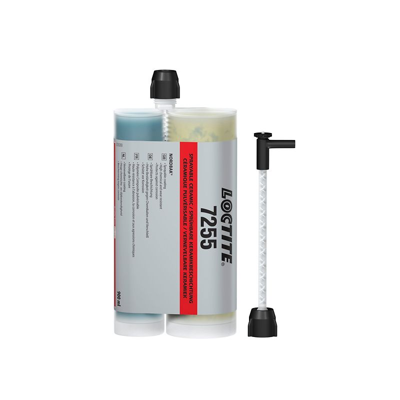The sprayable ceramic topcoat Loctite PC 7255 protects steel pipes against corrosion and wear.