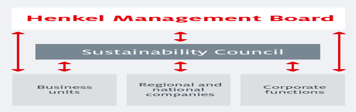 Organizational structure Sustainability council