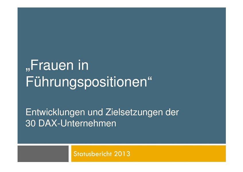 DAX 30-Unternehmen veröffentlichen dritten Statusbericht