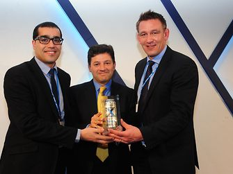 Aziz Mabrouki (Henkel), Graham Chipchase (Rexam Chief Executive), Mark Sowerby (Henkel)