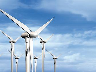 Wind turbines in operation