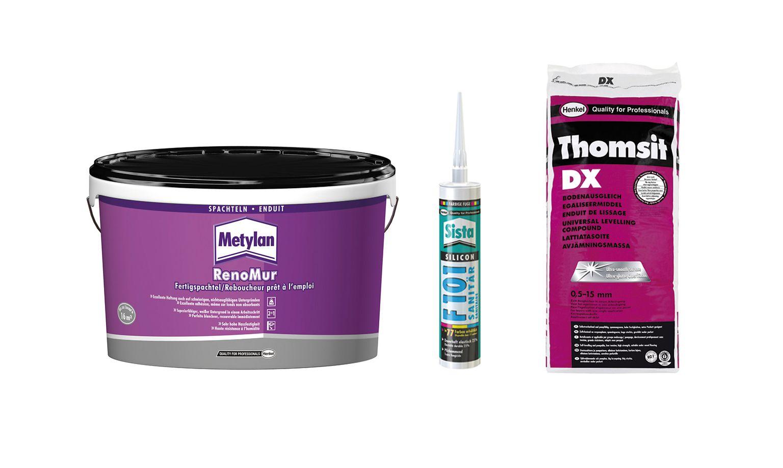 Für das Fachhandwerk bieten die Produkte der Marken Thomsit, Sista und Metylan für den gesamten Innenausbau Qualität aus einer Hand
