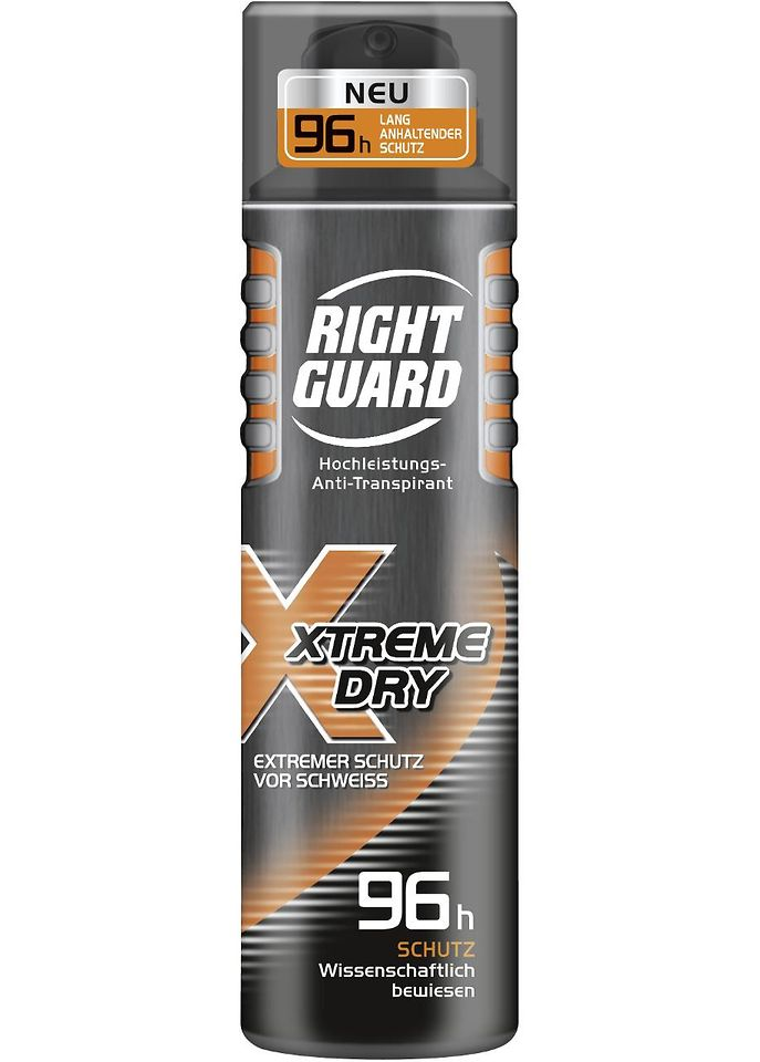 Right Guard Xtreme Dry 96h Hochleistungs-Anti-Transpirant Deospray