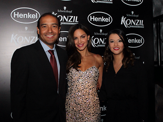 Alfredo Morales, Henkel President for the Andean Region, together with Valerie Dominguez and Carolina Celis, Corporate Communications Head Andean Region.
