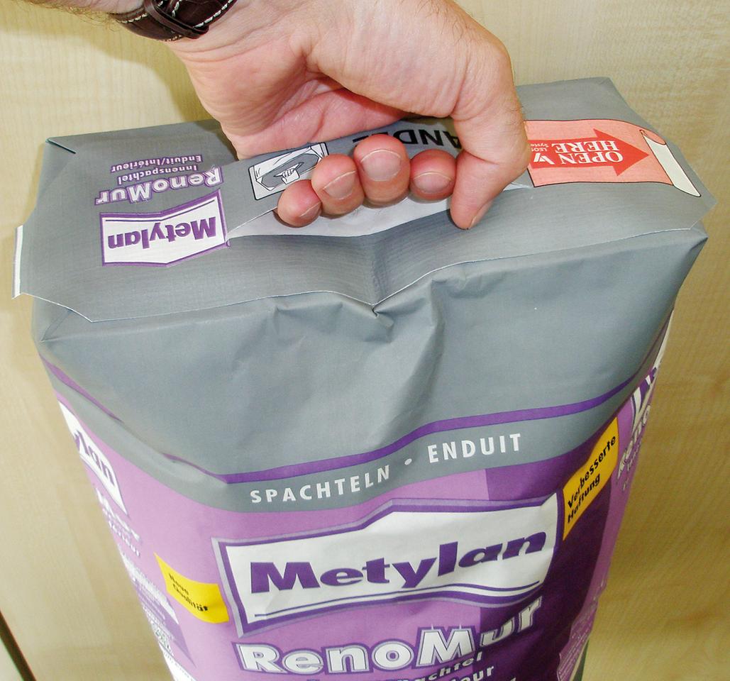 Der neue Metylan RenoMur Innenspachtel mit Tragegriff