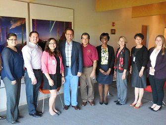 Cindy Quintero (fourth from the left) together with the Henkel Scottsdale Hispanic Professional Society.