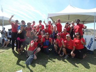 The Henkel Fire Pearls won the gold medal at the Arizona Dragon Boat Festival.