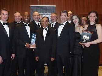 The Henkel representatives received the award at a black-tie ceremony at the Max M. Fisher Music Center in Detroit.