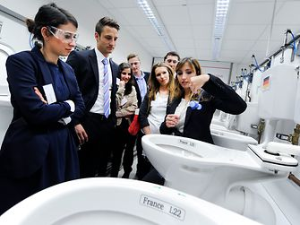 At Laundry & Home Care's toilet laboratory