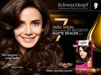 The Turkish actress Songül Öden is testimonial for the Palette campaign