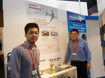 Henkel representatives at the Singapore Airshow trade exhibition