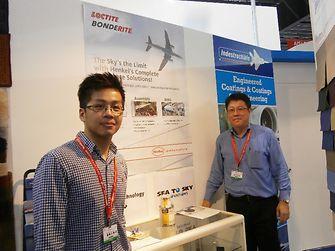Henkel representatives at the Singapore Airshow trade exhibition