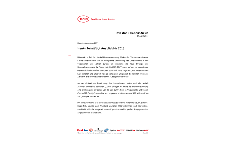 Investor Relations News: Henkel holds Annual General Meeting.pdfPreviewImage