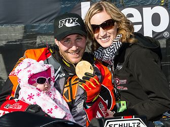 Mike Schultz won the Adaptive SnoCross event in Aspen, USA
