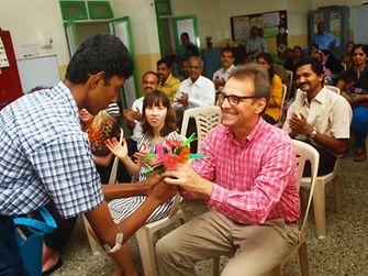 The 'Punarvas School' thanked Jeremy Hunter, President of Henkel India