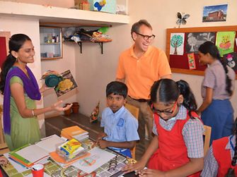 Jeremy Hunter, President Henkel India, visited 'Suryoday Trust', a school for students with intellectual disability located in Mumbai.