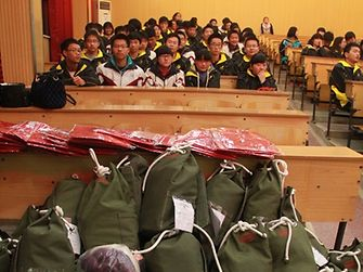 150 bags arrived at Yunyang High School, China