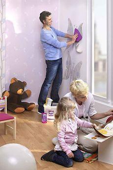 Flexible Wandgestaltung nach dem Geschmack der Kleinen gelingt schnell und sauber mit Metylan direct