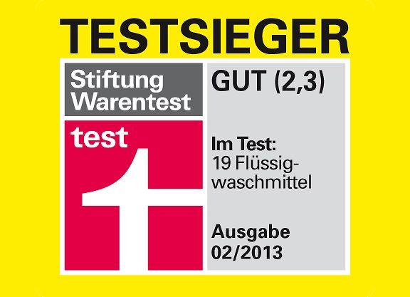 """Im aktuellen Flüssigwaschmittel-Test (2/2013) erhält Persil Color-Gel die Gesamtnote """"gut"""" (2,3)"""