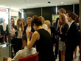 Students got to experience the Schwarzkopf Professional products