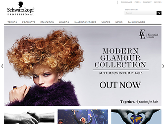 Schwarzkopf Professional hemsida