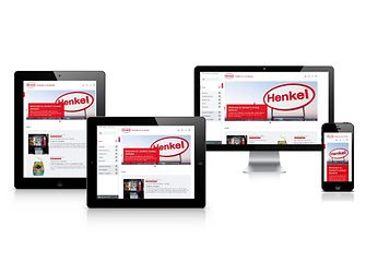 The new Henkel corporate website works on all devices thus providing the best user experience.