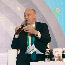 Daniel Rudolph, President Henkel Singapore, during the panel session at the Global Green Economic Forum.