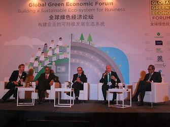 Panel session at the Global Green Economic Forum in Singapore.