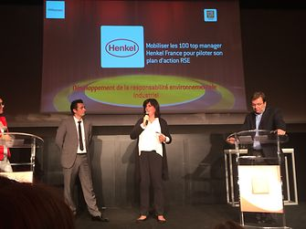 Henkel received the LSA award for managers' commitment to raising awareness on sustainability.