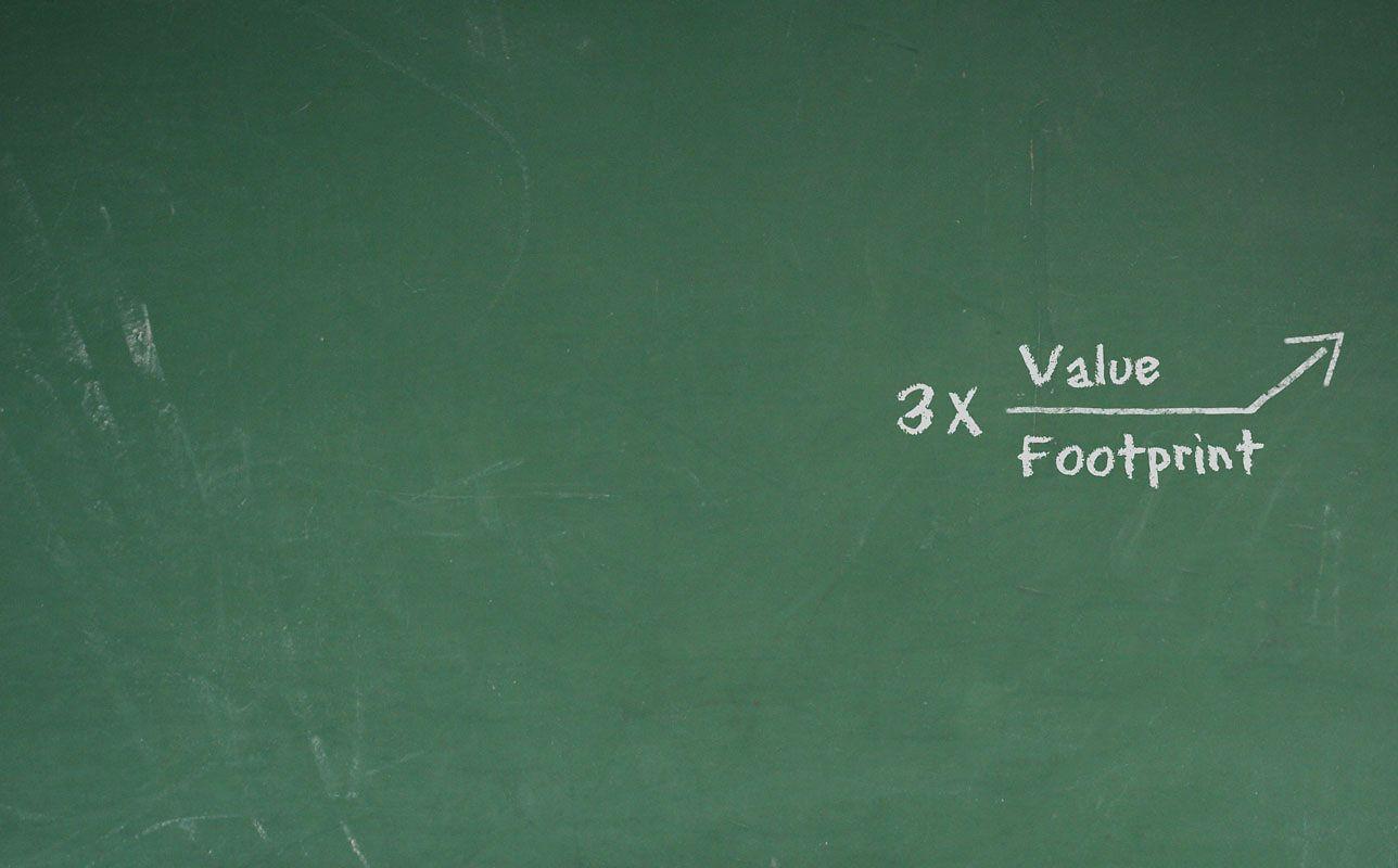 Factor 3 formula on chalkboard.