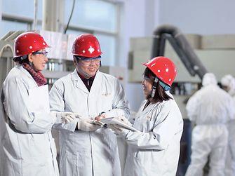 Three chemical laborants