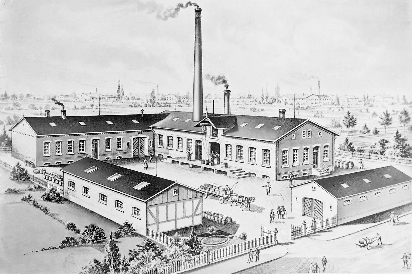 Prédio em Schuetzenstrasse Duesseldorf 1878