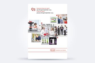 Cover of Henkel's Q3 2014 report