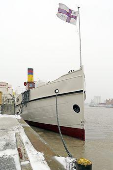 "The ""Prinz Heinrich"" twin screwed steamer which was built at the Meyerwerft yard in 1909"