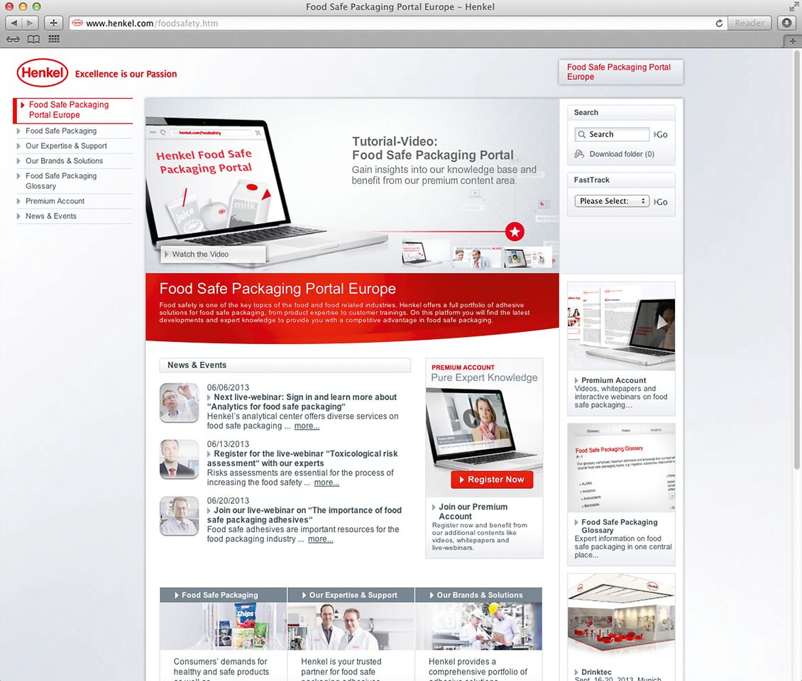 Henkel will be holding live webinars each week on its website at www.henkel.com/foodsafety