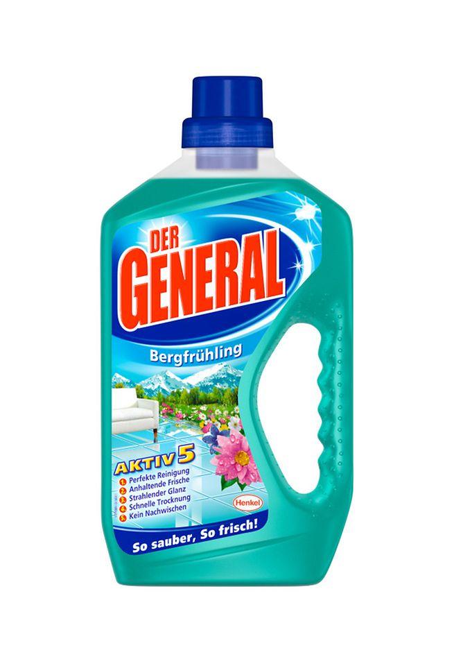 Der General Aktiv 5 sorgt für streifenfreien Glanz auf allen feucht abwischbaren Böden