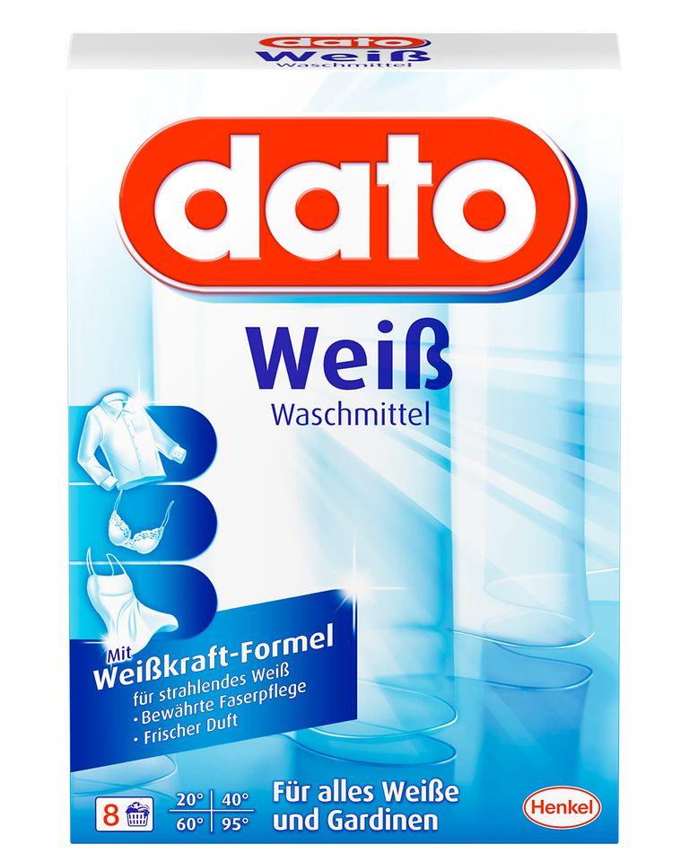 Für strahlend weiße Vorhänge sorgt dato, ein spezielles Gardinen-Waschmittel mit Weißkraft-Formel
