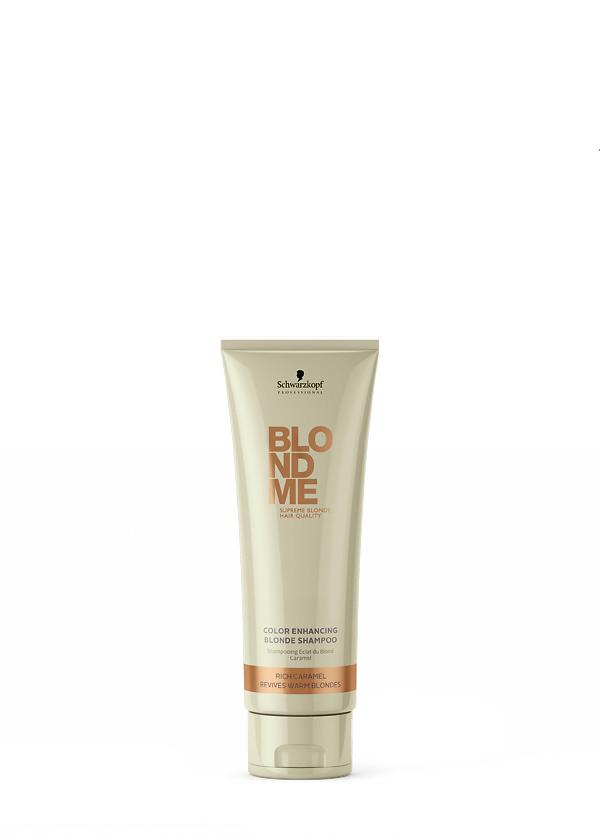 BLONDME Color Enhancing Blonde Shampoo Rich-Caramel