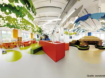 Klares Design und phantasievolle Farben schaffen ein ganzheitliches Raumerlebnis